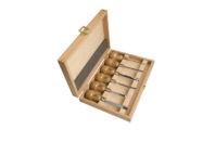 Pear Handled Carving Tool in Wooden Box, Set of 6